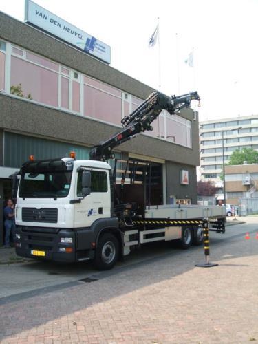 Wagen door ons opgebouwd voor Glasvervoer.Saint Gobain/van den Heuvel